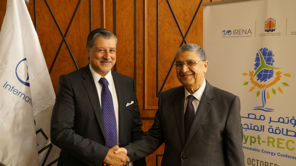 Mr. Adnan Z. Amin, IRENA Director-General and H.E. Dr. Mohamed Shaker, Egyptian Minister of Electricity and Renewable Energy.jpg
